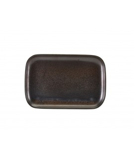Terra Porcelain Black Rectangular Plate 34.5 x 23.5cm