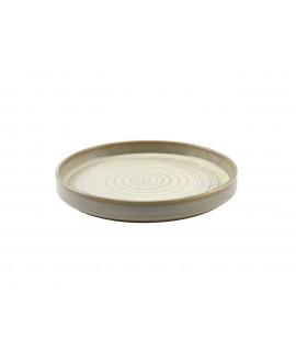 Terra Porcelain Matt Grey Presentation Plate 26cm