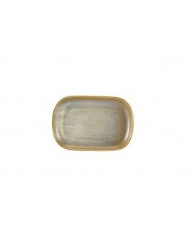Terra Porcelain Matt Grey Rectangular Plate 24 x 16.5cm