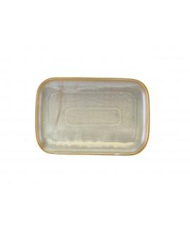Terra Porcelain Matt Grey Rectangular Plate 34.5 x 23.5cm