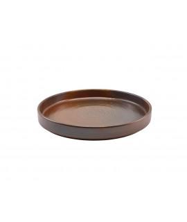 Terra Porcelain Rustic Copper Presentation Plate 26cm