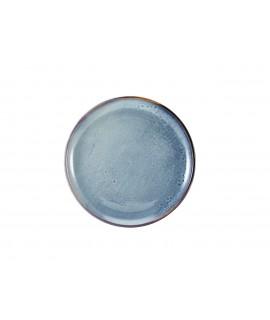 Terra Porcelain Aqua Blue Coupe Plate 27.5cm