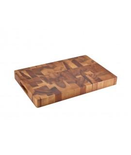 Acacia Wood End Grain Chopping Board 45.5 x 30.5 x 4.5cm