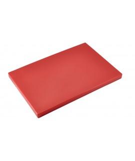 "Red Poly Cutting Board 12 x 9 x 0.5"""