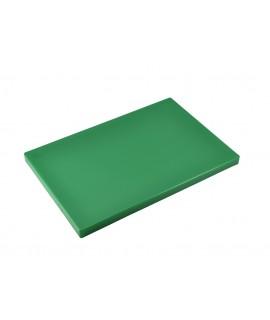 "Green Poly Cutting Board 12 x 9 x 0.5"""