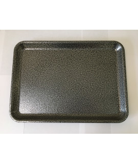 Galvanised steel tray 37x26 5x2cm hammered silver