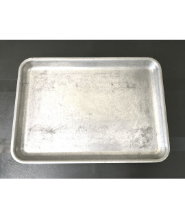 Galvanised steel tray 37 x 26.5 x 2xm