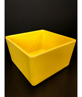 "TableCraft Straight Sided Bowl 5x5x3"", Melamine Yellow"