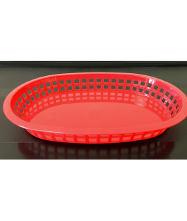 TableCraft Plastic Oval Red Basket