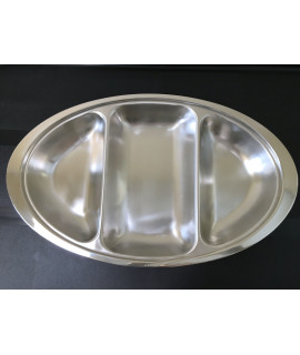 Stainless Steel Triple Divided Veg Dish