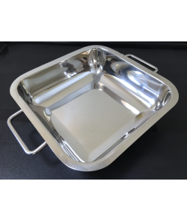 Stainless Steel Serving Tray with handles 3 pack