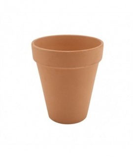 Tall Terracotta Pot Rustic 10 x 12cm