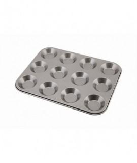 Carbon Steel Non-Stick 12 Cup Bun Tray