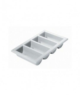 "Cutlery Tray/Box FULL SIZE 13"" X 21"" Grey"
