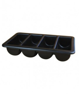 "Cutlery Tray/Box FULL SIZE Black 13"" X 21"""