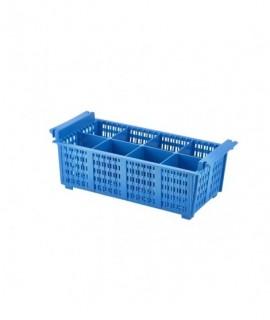 8 Compart Cutlery Basket (Blue)430X210X155mm