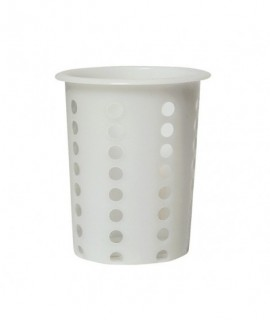 Cutlery Cylinder White 100 mm Diameter 135mm High