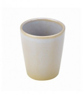 Terra Stoneware Rustic White Conical Cup 10cm