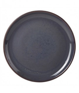 Terra Stoneware Rustic Blue Coupe Plate 19cm