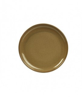 Terra Stoneware Rustic Brown Coupe Plate 24cm