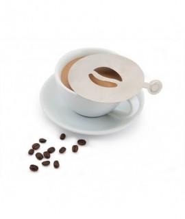 Genware Stainless Steel Coffee Stencil Bean Design