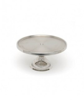 "Genware Stainless Steel Cake Stand 13""Diameter 6.5"" High"