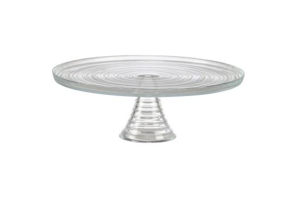 Glass Cake Stand 32 X 11cm H Kdl