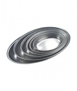 """Stainless Steel Oval Vegetable Dish 8"""""""