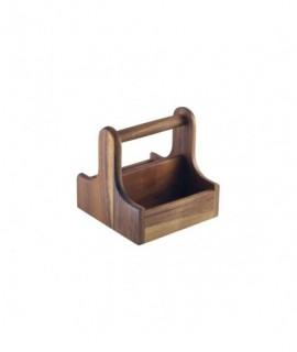 Small Dark Wood Table Caddy