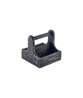 Small Black Wooden Table Caddy