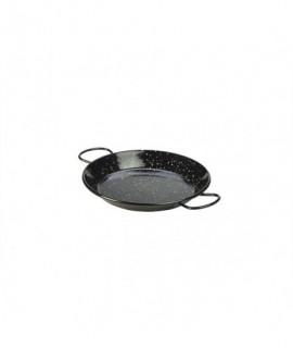 Black Enamel Paella Pan 20cm