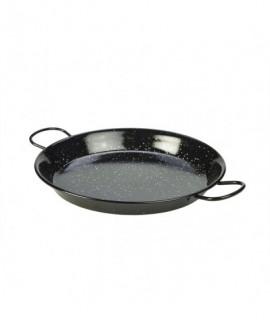 Black Enamel Paella Pan 30cm
