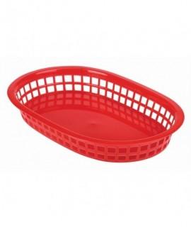 Fast Food Basket Red 27.5 x 17.5cm