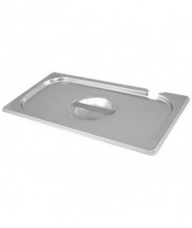 Stainless Steel Gastronorm Pan Notched Lid 1/3