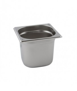 Stainless Steel Gastronorm Pan 1/6 - 100mm Deep