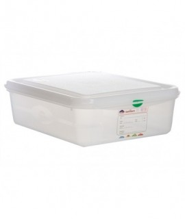 GN Storage Container 1/2 100mm Deep 6.5L