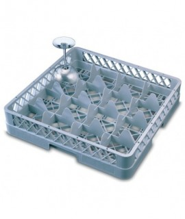 Genware 16 Comp Glass Rack With 3 Extenders