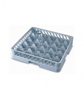 Genware 25 Compartment Glass Rack