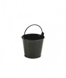 Galvanised Steel Serving Bucket 10cm Black