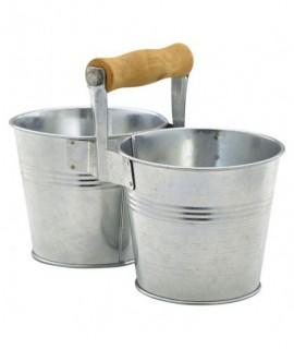 Galvanised Steel Combi Serving Buckets 10cm