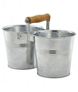 Galvanised Steel Combi Serving Buckets 12cm