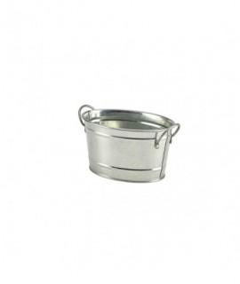 Galvanised Steel Serving Bucket 15.5 x 11 x 8.5cm