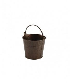 Galvanised Steel Hammered Serving Bucket 10cm Copper