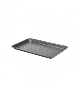 Galvanised Steel Tray 31.5x21.5x2cm Hammered Silver