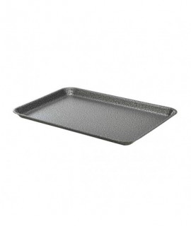 Galvanised Steel Tray 37x26.5x2cm Hammered Silver