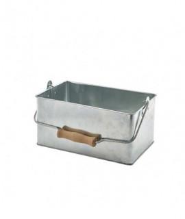 Galvanised Steel Rectangular Table Caddy 24.5x15.5x12.5cm