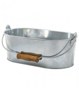 Galvanised Steel Oval Table Caddy 28x15.5x10cm