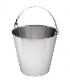 Swedish Stainless Steel  Bucket 12 Litre Graduated