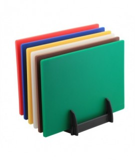 6 Colour (1 of Each) LD Chopping Boards + Rack