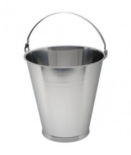 Stainless Steel Swedish Skirted Bucket 12L Graduated